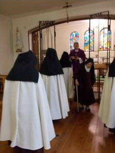 The Sisters receiving ashes on Ash Wednesday