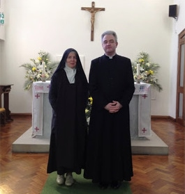 Fr. Martin and our Extern Sister, Sr. Marie-Therese