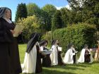 Singing during Benediction after Corpus Christi procession