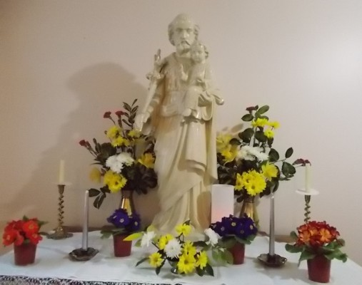 St. Joseph's altar during his novena