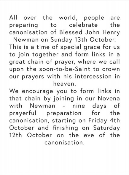 Novena Newman Introduction