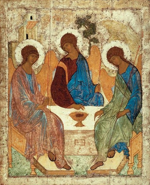 Icon of the Trinity by Andrei Rublev - 15th century Russian